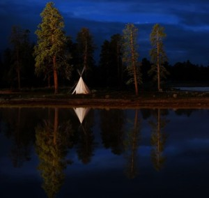 Teepee reflection